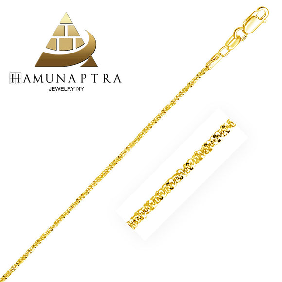 1.5mm 14K Gold Sparkle Anklet - Fine Jewelry from Hamunaptra NY :: Exclusively at Mental XS Online
