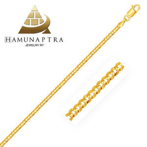 2.5mm 14K Gold Curb Link Anklet - Fine Jewelry from Hamunaptra NY :: Exclusively at Mental XS Online