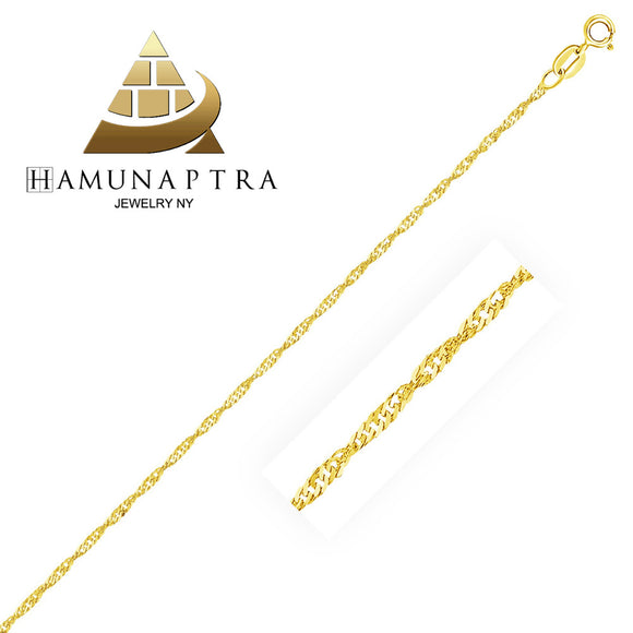 1.5mm 10K Gold Singapore Anklet - Fine Jewelry from Hamunaptra NY :: Exclusively at Mental XS Online