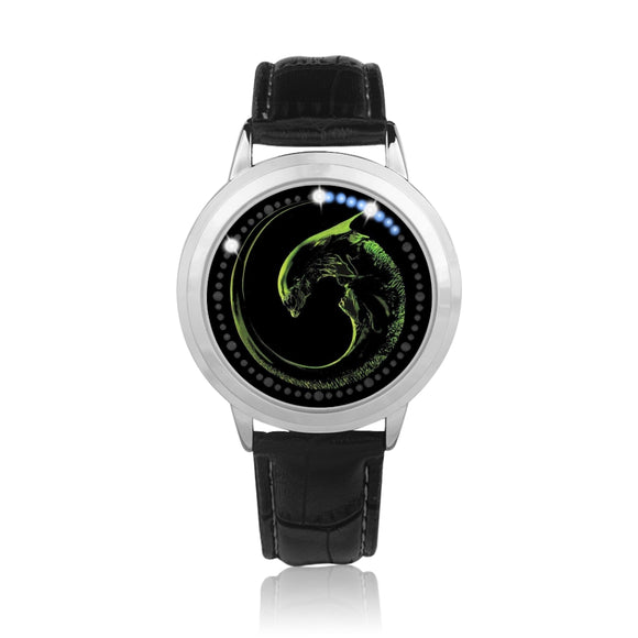Alien Embryo Black & Silver Touch-Screen Water-resistant LED Watch :: Mental XS Online EXCLUSIVE