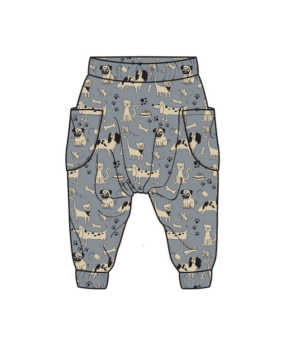 Happy Paws organic cotton harem pants