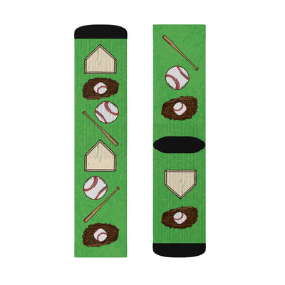 Baseball Adult Crew Socks-M - Famous IRL