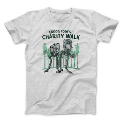 Endor Forest Charity Walk Men/Unisex T-Shirt-Ash - Famous IRL