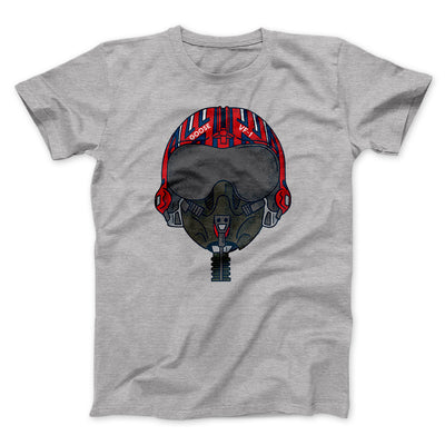 Goose Helmet Men/Unisex T-Shirt-Athletic Heather - Famous IRL