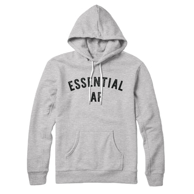 Essential AF Hoodie-Hoodie-White Label DTG-Athletic Heather-S-Famous IRL