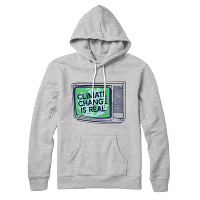PSA: Climate Change is Real Hoodie-Athletic Heather - Famous IRL