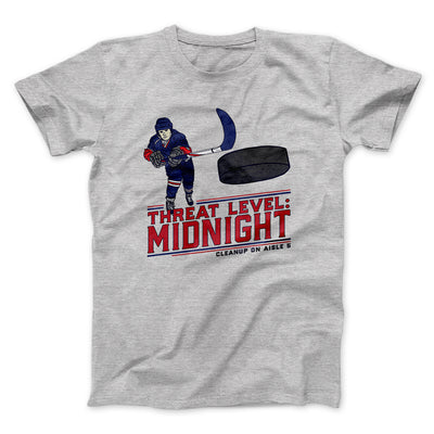 Threat Level: Midnight Men/Unisex T-Shirt-Athletic Heather - Famous IRL