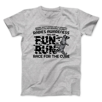 Rabies Awareness Fun Run Men/Unisex T-Shirt-Athletic Heather - Famous IRL