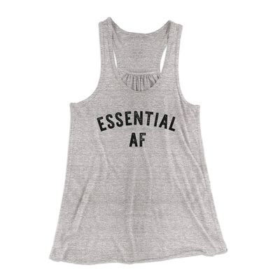 Essential AF Women's Flowey Tank Top-Women's Flowey Racerback Tank Top-White Label DTG-Athletic Heather-XS-Famous IRL