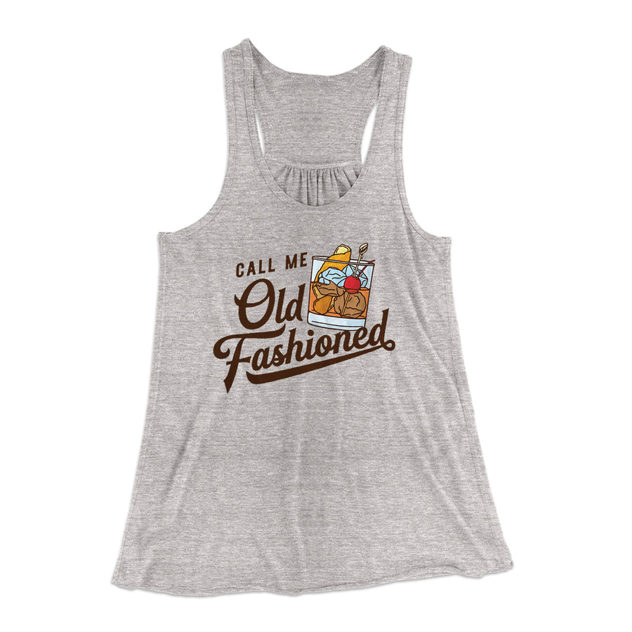 d3b34df4 Call Me Old Fashioned Flowey Racerback Tank-Athletic Heather - Famous IRL