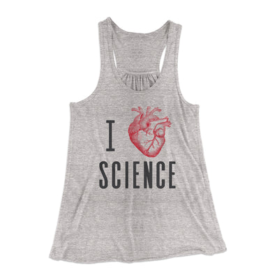 I Heart Science Women's Flowey Racerback Tank Top-Athletic Heather - Famous IRL