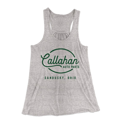 Callahan Auto Parts Women's Flowey Racerback Tank Top - Famous IRL Funny and Ironic T-Shirts and Apparel