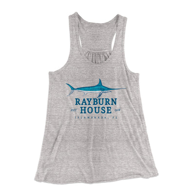 Rayburn House Women's Flowey Racerback Tank Top-Athletic Heather - Famous IRL