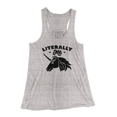 Literally Me Women's Flowey Tank-Athletic Heather - Famous IRL