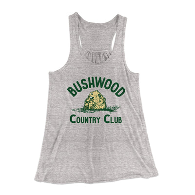 Bushwood Country Club Women's Flowey Racerback Tank Top-Athletic Heather - Famous IRL