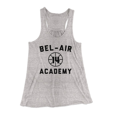 Bel-Air Academy Basketball Women's Flowey Racerback Tank Top-Athletic Heather - Famous IRL