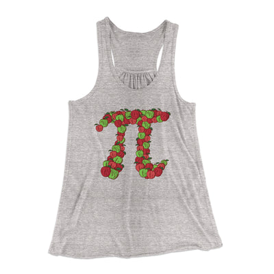 Apple Pi Women's Flowey Racerback Tank Top-Athletic Heather - Famous IRL