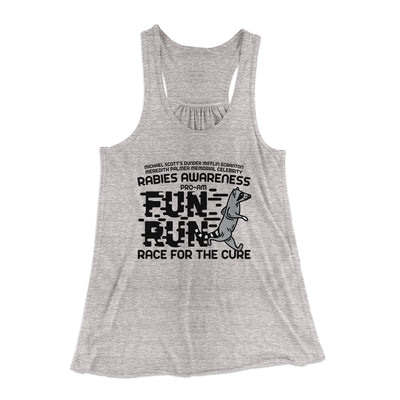 Rabies Awareness Fun Run Women's Flowey Racerback Tank Top-Athletic Heather - Famous IRL