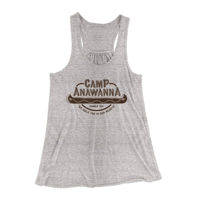 Camp Anawanna Women's Flowey Racerback Tank-Athletic Heather - Famous IRL