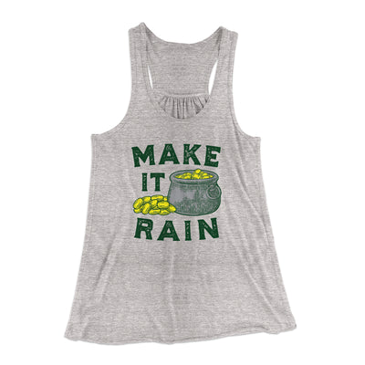 Make It Rain Women's Flowey Racerback Tank Top-Athletic Heather - Famous IRL