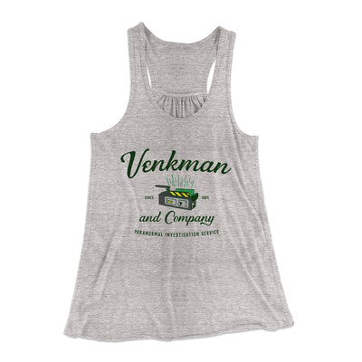 Venkman and Company Women's Flowey Racerback Tank Top-Athletic Heather - Famous IRL