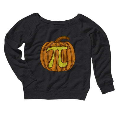 Pumpkin Pi Women's Off The Shoulder Sweatshirt