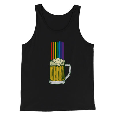 Beer Rainbow Men/Unisex Tank-Black - Famous IRL