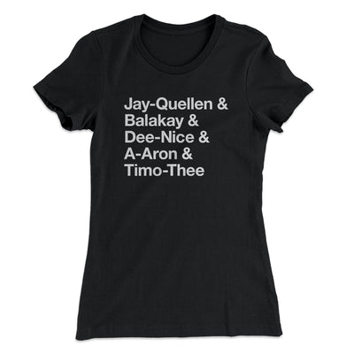 Substitute Teacher Names Women's T-Shirt-Solid Black - Famous IRL