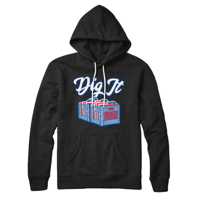 Dig It - Record Crate Hoodie-Black - Famous IRL