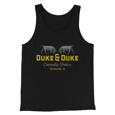 Duke and Duke Commodity Brokers Men/Unisex Tank-Black - Famous IRL