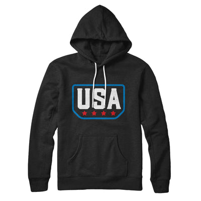 USA Badge Logo Hoodie-Black - Famous IRL