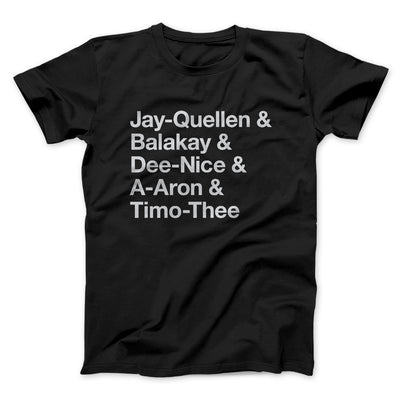 Substitute Teacher Names Men/Unisex T-Shirt-Black - Famous IRL
