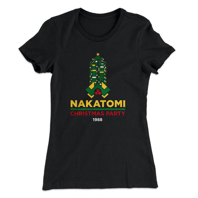 Nakatomi Christmas Party Women's T-Shirt-Solid Black - Famous IRL