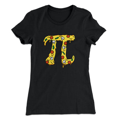 Pizza Pi Women's T-Shirt-Solid Black - Famous IRL