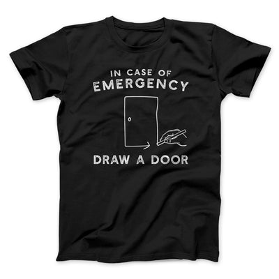 Draw a Door Men/Unisex T-Shirt-Black - Famous IRL