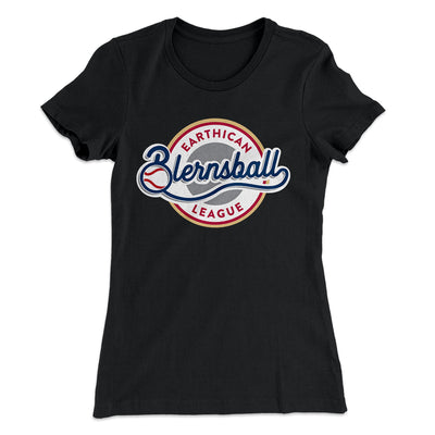 Earthican Blernsball League Women's T-Shirt-Solid Black - Famous IRL