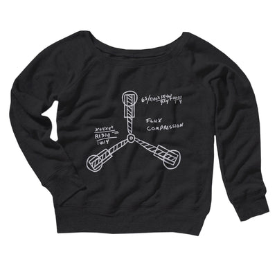 Flux Capacitor Women's Off The Shoulder Sweatshirt-Black - Famous IRL