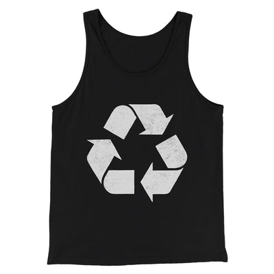 Recycle Symbol Men/Unisex Tank-Black - Famous IRL