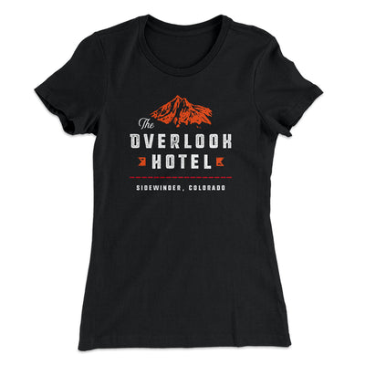 The Overlook Hotel Women's T-Shirt-Solid Black - Famous IRL