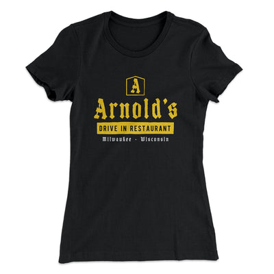 Arnold's Drive In Women's T-Shirt-Solid Black - Famous IRL