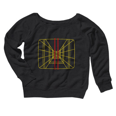 Stay On Target Women's Off The Shoulder Sweatshirt-Black - Famous IRL