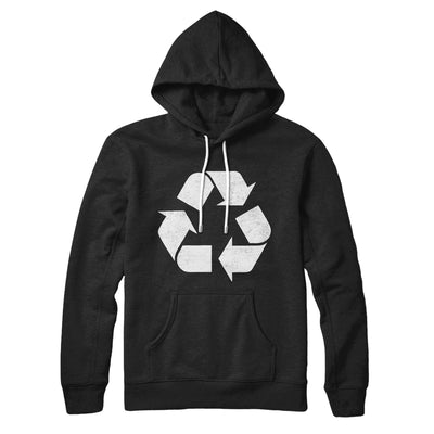Recycle Symbol Hoodie-Black - Famous IRL
