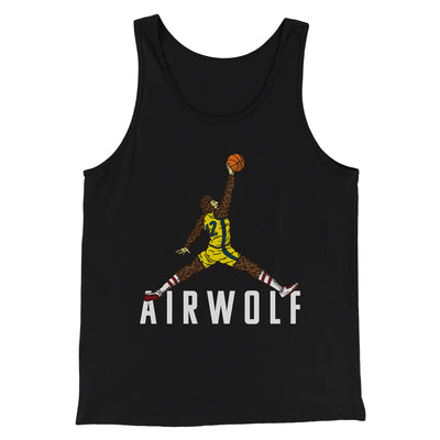 Air Wolf Men/Unisex Tank-Black - Famous IRL