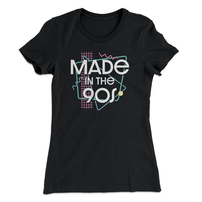 Made In The 90s Women's T-Shirt-Women's T-Shirt-White Label DTG-Black-S-Famous IRL