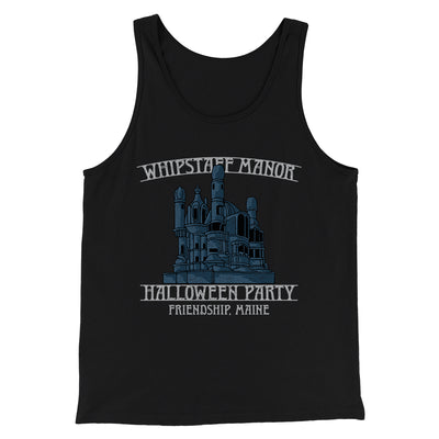 Whipstaff Manor Halloween Party Men/Unisex Tank-Tank Top-Printify-Black-S-Famous IRL