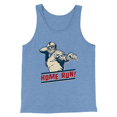 Home Run! Men/Unisex Tank-Tank Top-Printify-Blue TriBlend-S-Famous IRL