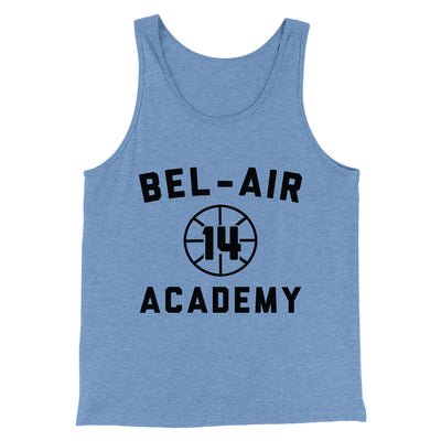 Bel-Air Academy Basketball Men/Unisex Tank-Blue TriBlend - Famous IRL
