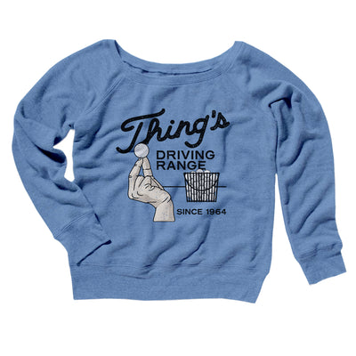 Thing's Driving Range Women's Scoopneck Sweatshirt