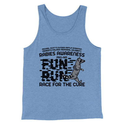 Rabies Awareness Fun Run Men/Unisex Tank-Blue TriBlend - Famous IRL