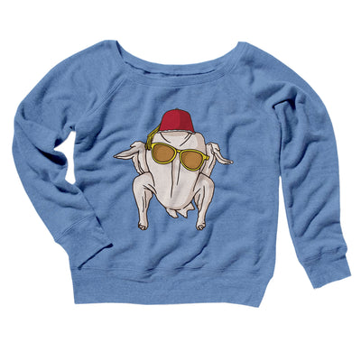 Monica Turkey Head Women's Scoopneck Sweatshirt